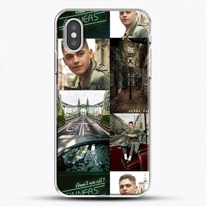 Hero Fiennes Tiffin London Green iPhone XS Case, White Plastic Case | JoeYellow.com