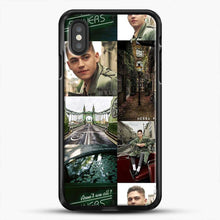 Load image into Gallery viewer, Hero Fiennes Tiffin London Green iPhone XS Case, Black Rubber Case | JoeYellow.com
