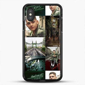 Hero Fiennes Tiffin London Green iPhone XS Case, Black Rubber Case | JoeYellow.com