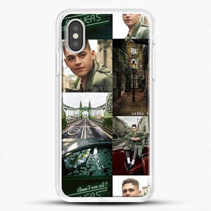 Hero Fiennes Tiffin London Green iPhone XS Case, White Rubber Case | JoeYellow.com