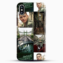 Load image into Gallery viewer, Hero Fiennes Tiffin London Green iPhone XS Case, Black Snap 3D Case | JoeYellow.com