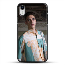 Load image into Gallery viewer, Hero Fiennes Tiffin Model Friends iPhone XR Case, Black Plastic Case | JoeYellow.com