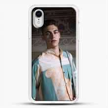 Load image into Gallery viewer, Hero Fiennes Tiffin Model Friends iPhone XR Case, White Rubber Case | JoeYellow.com