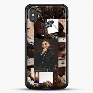 Hero Fiennes Tiffin Vintage iPhone X Case, Black Rubber Case | JoeYellow.com