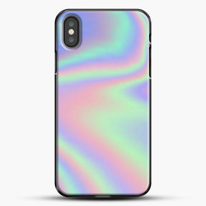 Holographic Pattern iPhone Case, Black Plastic Case | JoeYellow.com