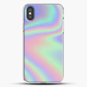 Holographic Pattern iPhone Case, White Plastic Case | JoeYellow.com