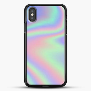 Holographic Pattern iPhone Case, Black Rubber Case | JoeYellow.com