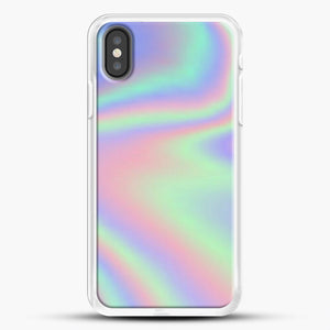 Holographic Pattern iPhone Case, White Rubber Case | JoeYellow.com