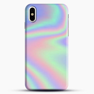 Holographic Pattern iPhone Case, Black Snap 3D Case | JoeYellow.com
