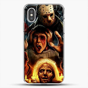 Horror Collection Friday The 13Th Art iPhone XS Case, White Plastic Case | JoeYellow.com