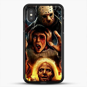 Horror Collection Friday The 13Th Art iPhone XS Case, Black Rubber Case | JoeYellow.com