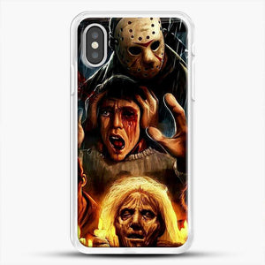 Horror Collection Friday The 13Th Art iPhone XS Case, White Rubber Case | JoeYellow.com
