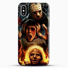 Load image into Gallery viewer, Horror Collection Friday The 13Th Art iPhone XS Case, Black Snap 3D Case | JoeYellow.com