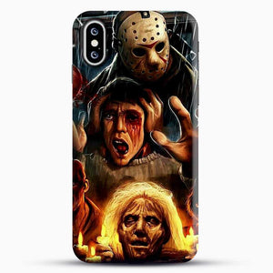 Horror Collection Friday The 13Th Art iPhone XS Case, Black Snap 3D Case | JoeYellow.com