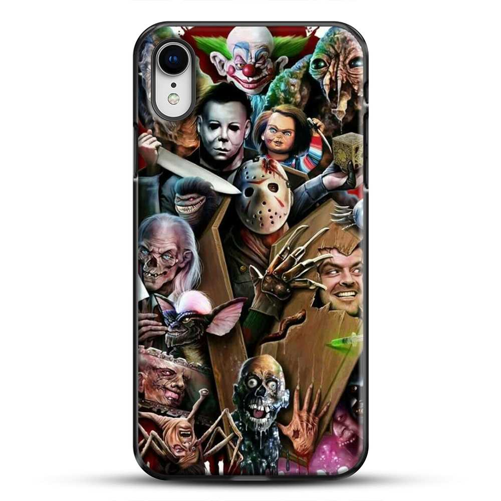 Horror Collection Horror Movie iPhone XR Case, Black Plastic Case | JoeYellow.com
