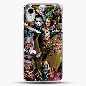 Horror Collection Horror Movie iPhone XR Case, White Plastic Case | JoeYellow.com