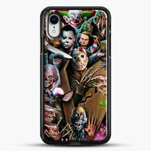 Load image into Gallery viewer, Horror Collection Horror Movie iPhone XR Case, Black Rubber Case | JoeYellow.com