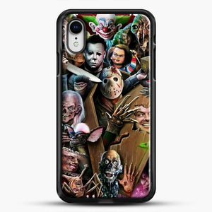 Horror Collection Horror Movie iPhone XR Case, Black Rubber Case | JoeYellow.com