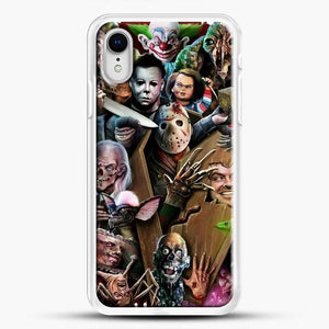 Horror Collection Horror Movie iPhone XR Case, White Rubber Case | JoeYellow.com