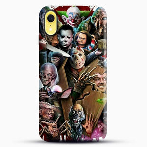 Horror Collection Horror Movie iPhone XR Case, Black Snap 3D Case | JoeYellow.com