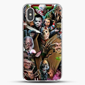 Horror Collection Horror Movie iPhone XS Case, White Plastic Case | JoeYellow.com