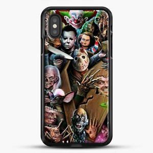Horror Collection Horror Movie iPhone XS Case, Black Rubber Case | JoeYellow.com