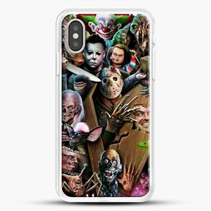 Horror Collection Horror Movie iPhone XS Case, White Rubber Case | JoeYellow.com