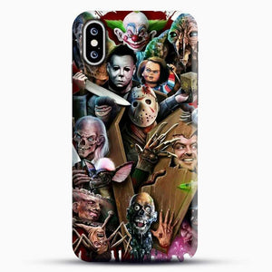 Horror Collection Horror Movie iPhone XS Case, Black Snap 3D Case | JoeYellow.com