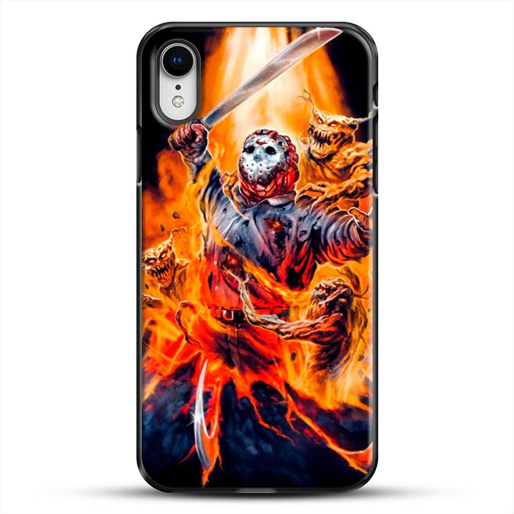 Horror Collection Jason Goes To Hell iPhone XR Case, Black Plastic Case | JoeYellow.com