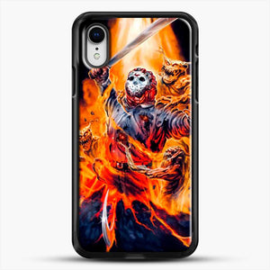 Horror Collection Jason Goes To Hell iPhone XR Case, Black Rubber Case | JoeYellow.com