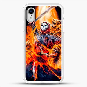 Horror Collection Jason Goes To Hell iPhone XR Case, White Rubber Case | JoeYellow.com