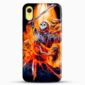 Horror Collection Jason Goes To Hell iPhone XR Case, Black Snap 3D Case | JoeYellow.com