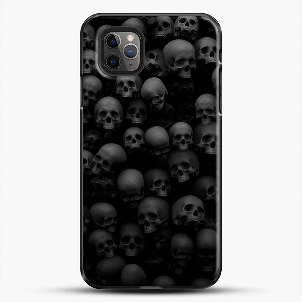 Horror Collection Skull Collage iPhone 11 Pro Max Case, Black Plastic Case | JoeYellow.com