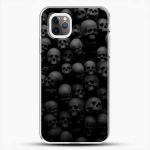 Horror Collection Skull Collage iPhone 11 Pro Max Case, White Plastic Case | JoeYellow.com