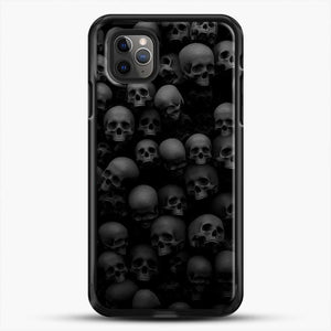 Horror Collection Skull Collage iPhone 11 Pro Max Case, Black Rubber Case | JoeYellow.com
