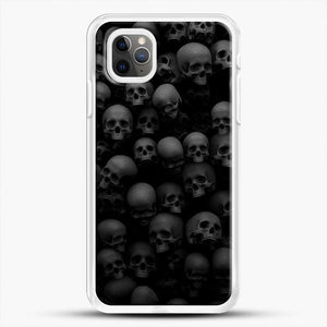 Horror Collection Skull Collage iPhone 11 Pro Max Case, White Rubber Case | JoeYellow.com
