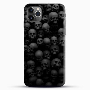 Horror Collection Skull Collage iPhone 11 Pro Max Case, Black Snap 3D Case | JoeYellow.com