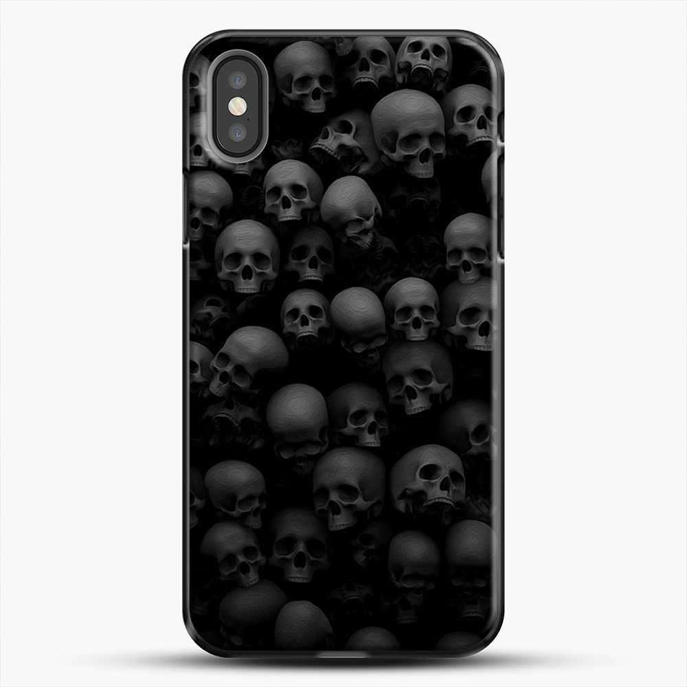Horror Collection Skull Collage iPhone X Case, Black Plastic Case | JoeYellow.com