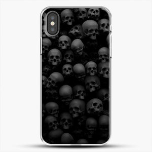 Horror Collection Skull Collage iPhone X Case, White Plastic Case | JoeYellow.com