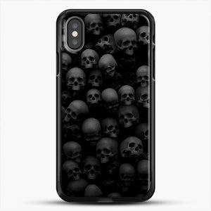 Horror Collection Skull Collage iPhone X Case, Black Rubber Case | JoeYellow.com
