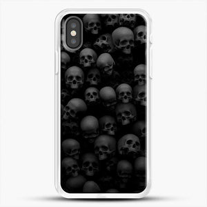 Horror Collection Skull Collage iPhone X Case, White Rubber Case | JoeYellow.com