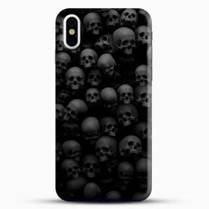 Horror Collection Skull Collage iPhone X Case, Black Snap 3D Case | JoeYellow.com