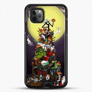Horror Collection The Nightmare Before Christmas iPhone 11 Pro Max Case, Black Rubber Case | JoeYellow.com