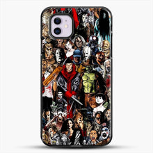 Load image into Gallery viewer, Horror Collection iPhone 11 Case, Black Plastic Case | JoeYellow.com