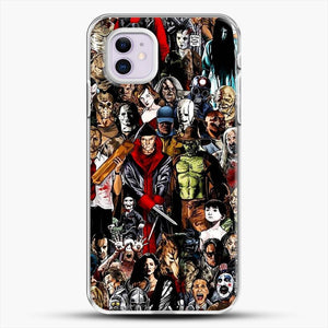 Horror Collection iPhone 11 Case, White Plastic Case | JoeYellow.com
