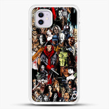 Load image into Gallery viewer, Horror Collection iPhone 11 Case, White Rubber Case | JoeYellow.com
