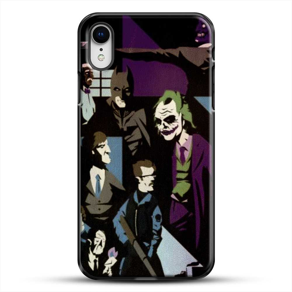 Horror Comic Collection Darck Knight iPhone XR Case, Black Plastic Case | JoeYellow.com