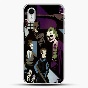 Horror Comic Collection Darck Knight iPhone XR Case, White Plastic Case | JoeYellow.com