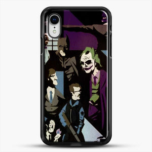 Horror Comic Collection Darck Knight iPhone XR Case, Black Rubber Case | JoeYellow.com
