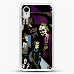 Horror Comic Collection Darck Knight iPhone XR Case, White Rubber Case | JoeYellow.com